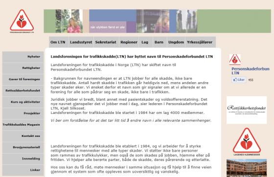 LTN bytter navn til personskadeforbundet.